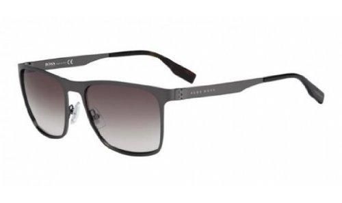 Boss Hugo Boss 0597/S Sunglasses Semi Matte Dark Ruthenium / Brown Gradient