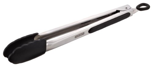 Leifheit 03083 Proline Pince de Barbecue Inox/Silicone Argent/Noir 31 cm