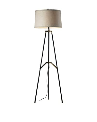 Artistic Lighting 1-Light Floor Lamp, Restoration Black/Aged Gold