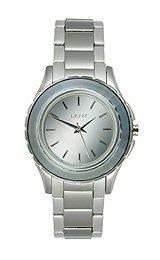DKNY NY2115 - Reloj para mujeres, correa de acero inoxidable color plateado