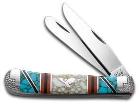 CASE XX DAVID YELLOWHORSE Eagle Trapper 1/4 Exotic Custom Pocket Knife
