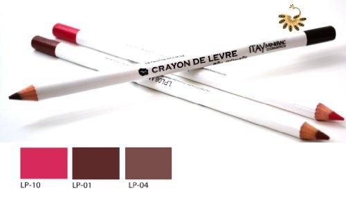 Itay Mineral Cosmetics Set of 3 Lip Liner Pencils (1,4,10) + Cala Dual Pencil Sharpener