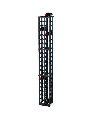 Wine Cellar Innovations Traditional Premium Redwood 2 Column Wine Rack, Midnight Black, Stained front-603138