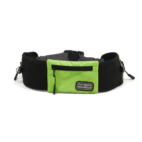 Kyjen Outward Hound Hands Free Leash, Green