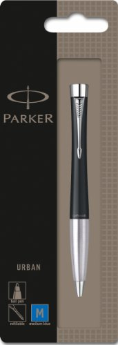 parker-urban-ball-pen-with-blue-encre-and-twist-action-for-standard-recharges-matt-black-ref-s079237