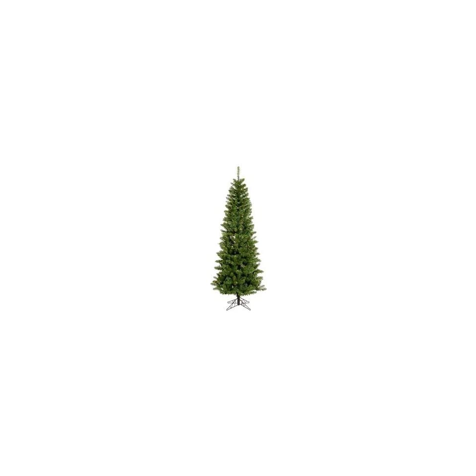 Salem Pencil Pine 7.5 Artificial Christmas Tree with Multicolored LED Lights