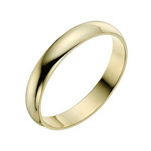 9ct Yellow Gold Court Shape 3mm Band Width Medium Weight 2.8g Wedding Ring Size N