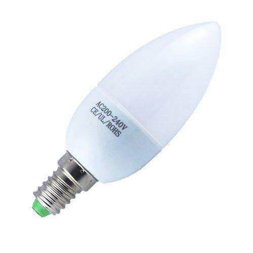 THG 6x 3W E14 LED Kerze Glühlampe Dekoratives Licht Kronleuchter 5500K kaltweiß Energiesparlampe 200-240V (Schnelle Lieferung von Deutschland)
