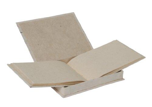 livre-dinvites-en-papier-lokta-motif-petales-de-bleuet-naturel
