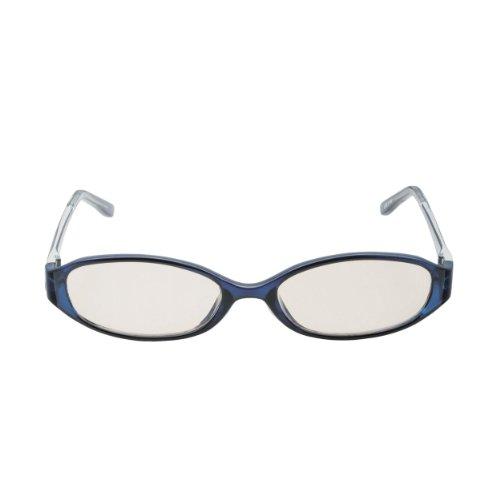 ELECOM ブルーライト対策眼鏡 ブラウンレンズ オーバル ネイビー OG-FBLP02NV