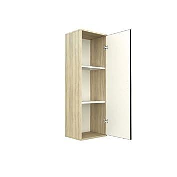 Mix colonne salle de bain bain 40 cm bois chene noir cuisine maison m31 for Colonne salle de bain bois