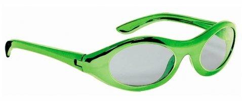 Amscan Mens Metallic Oval Glasses - Green Green Medium