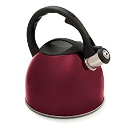 Norpro 2.7 Quart Whistling Teakettle, Red