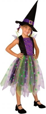 Costumes 211573 Light-Up Rainbow Witch Child Costume