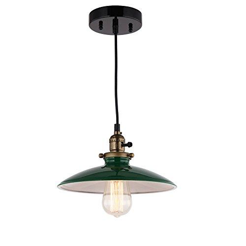 JEMMY HO Metal Warehouse Pendant Lighting Dia 10 Inch Mini Vintage Industrial Barn Pendant Lamp (Green) 1