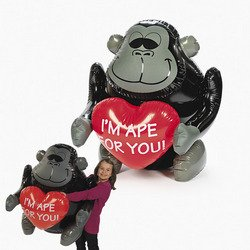 New Jumbo Inflatable Gorilla Quot I M Ape For You Quot Valentines