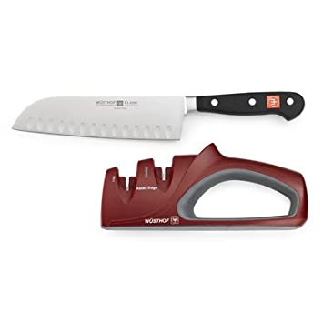 Classic Santoku Knife with Sharpener