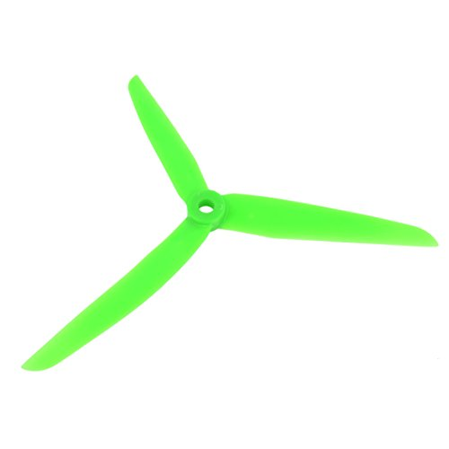 Green Plastic 3 Vanes Gas Engine Propeller Prop 7x3.5 for RC Aircraft - 1