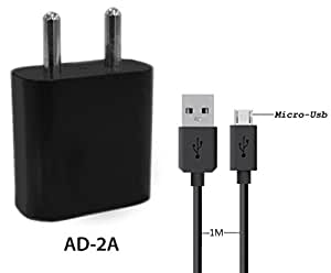 A2Z Shop Charge 2A Wall USB Charger with Auto ­Detect Technology for Wiko Selfy 4G - (2 Ampere ,1 Meter Usb Cable )