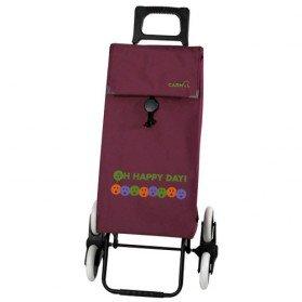 poussette de march happy day 6 roues violet chariots de courses. Black Bedroom Furniture Sets. Home Design Ideas