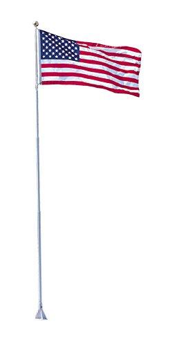 Dock Edge Flexi-Flag Pole, 21′ – Includes USA Flag