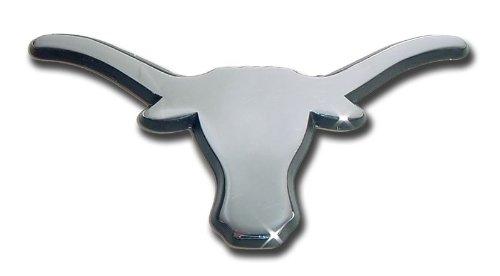 NCAA Texas Longhorns Chrome Auto Emblem Decal (Texas Longhorns Truck Accessories compare prices)