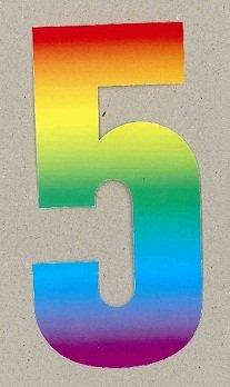 Wheelie bin numbers Rainbow 5