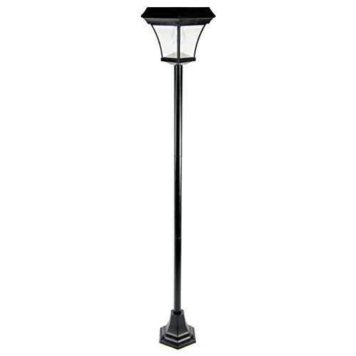 Metro Shop 6.5 Ft Outdoor Garden 4 Leds Solar Lamp Post Light Lawn Street Vintage Style