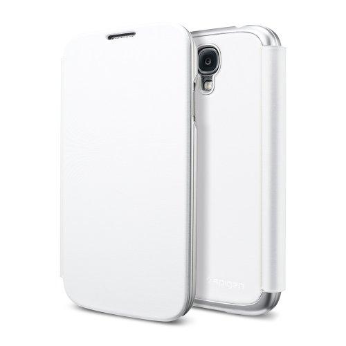 国内正規品 Galaxy S4 ケース、フリップカバー以上のフリップカバー SPIGEN SGP ウルトラ・フリップ(メタリック・ホワイト)