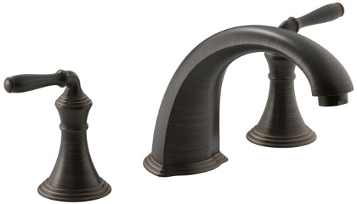 Kohler K-T398-4-2BZ Devonshire Deck/Rim Mount High-Flow Bath Faucet Trim, Oil Rubbed Bronze