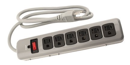 Power All 780055 Indoor 6-Outlet 125-Volt Metal Surge Strip With 4-Feet Cord