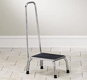 Amazon Com Stainless Steel Step Stool With Handrail