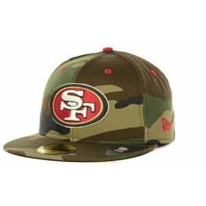NFL San Francisco 49ers New Era Woodland Camo Pop Fitted Hat (7 3/4) at Amazon.com
