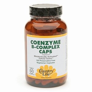 Country Life Coenzyme B-Complex Caps, Preservative Free Vegetarian Capsules 120 Ea