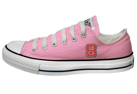 Buy Converse Chuck Taylor All Star Lo Top Pink North Carolina State University Logo Canvas