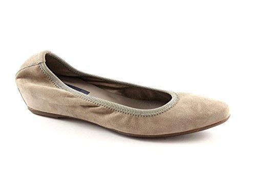 FRAU 72C5 taupe scarpe donna ballerine zeppetta elasticizzate 38