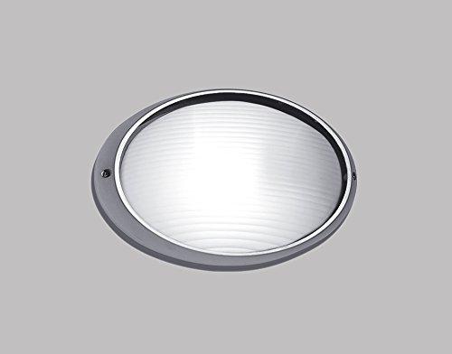 Lampada Applique Argento Per Esterni In Alluminio