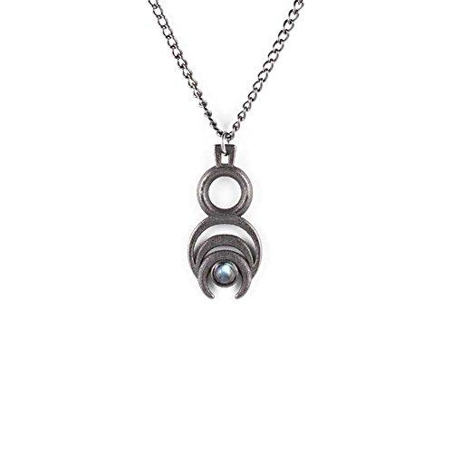 """E il lupo """"Rogue-Chronos-Collana in acciaio, in ardesia, in stile gotico, motivo: gioielli"""