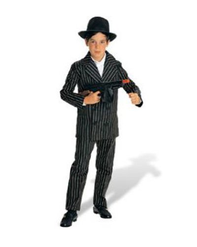 Kids Gangster Suit Boys Pinstripe Halloween School Play Costume