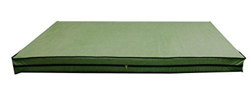 Glassiano Dust & Water Proof Twin Size(36''X75''X5'') Green Zipper Mattress Cover - Set Of 2pcs