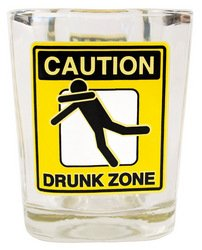 Laid Back CS13058 Drunk Zone Shot Glass, 2-Ounce
