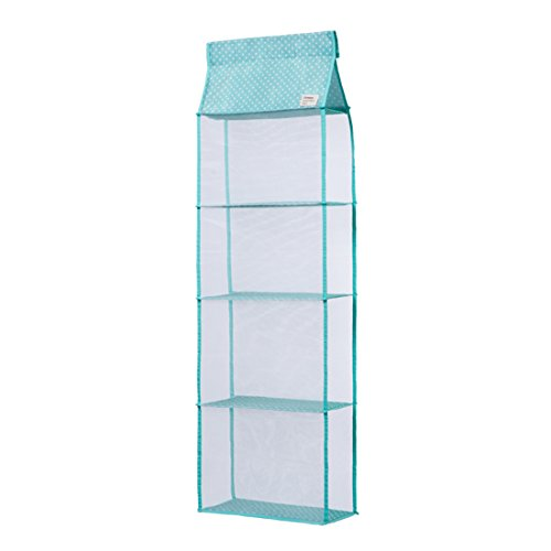 ONEONEY 4 Pocket Handbag Anti-dust Cover Clear Hanging Closet Bags Organizer Purse Holder Collection Shoes Save Space-(Green,L) (Shoe Cover Holder compare prices)
