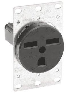 Leviton Oven / Welder Receptacle, 6-30, 30 Amp, 250 Volt, 5372