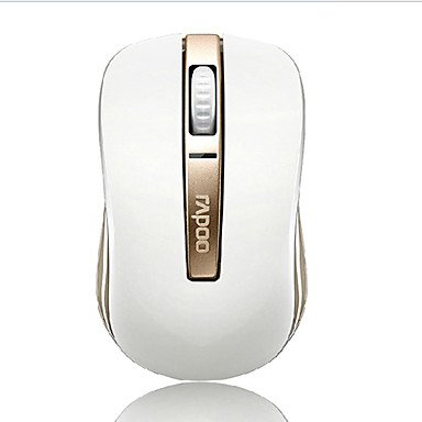 Zaki Rapoo 6610 Luxury Gold Color Bluetooth Double Moding Wireless Mouse 1000 Dpi