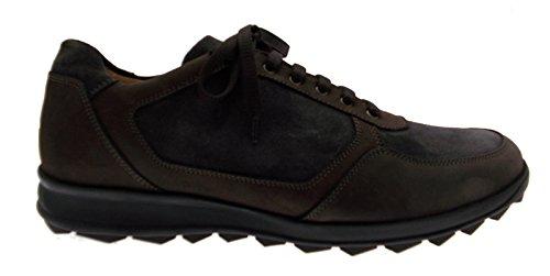 allacciato sportivo sneaker bicolore grigio marrone art 286 46 grigio