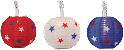 Primal Lite 836600 Patio Lites Patriotic Globe Miniature Party Light