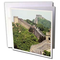 Vacation Spots - Great Wall of China - Greeting Cards-12 Greeting Cards with envelopes