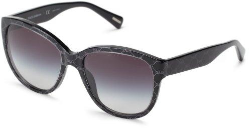Dolce & Gabbana Für Frau 4159p All Over Grey On Black / Grey Gradient Kunststoffgestell Sonnenbrillen