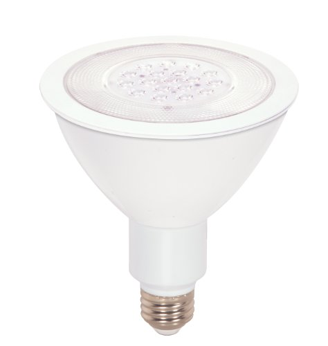 Satco S9092 17 Watt (90 Watt) 1200 Lumens Par38 Led Warm White 3000K 25 Beam Ditto Light Bulb, Dimmable