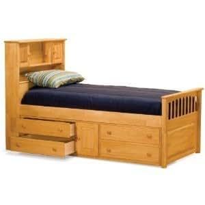 Atlantic Furniture AP8536045 Captains Bookcase Kids Bed